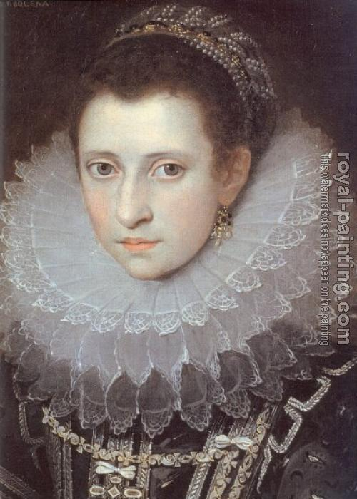 Frans The Younger Pourbus : Portrait of an Italian Lady